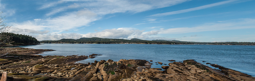 Active Pass from Georgina Point on Mayne Island. © Photos by Pharos 2014.