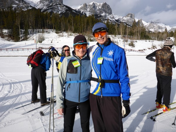 Joan Boxall skiing