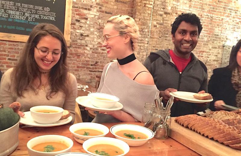 Vancouver soup line