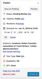 wordpress schedule