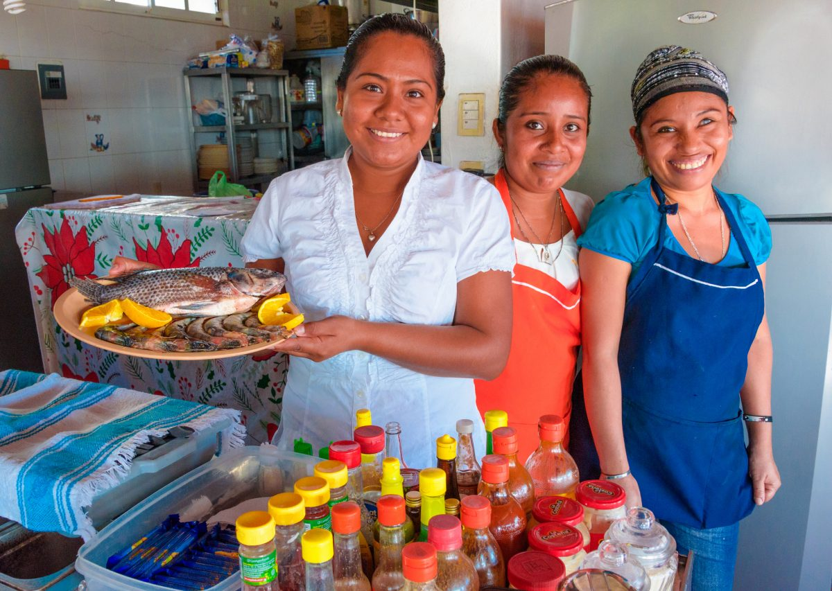 Beautiful smiles and amazing fresh choices along Playa Principal, in Puerto Escondido